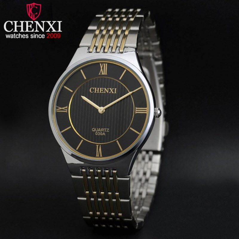 d0b7c992f6b NATATE CHENXI Assistir Intermetálica Relógio Marca de Luxo Homens de  Negócios de Quartzo Analógico Esportes Da Forma do Relógio Pulseira de Aço  Inoxidável ...