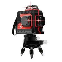 Лазерный уровень 12 линий 3D уровень самонивелирующийся 360 горизонтальный вертикальный крест супер мощный красный лазерный уровень строител
