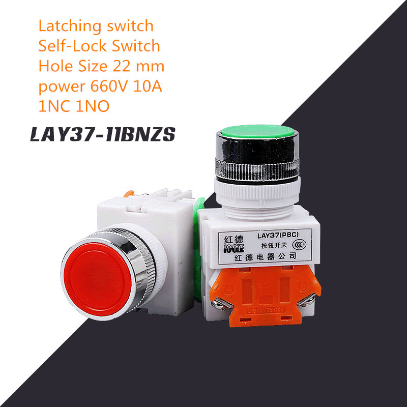 Lights & Lighting Lighting Accessories Devoted 1pcs Sc133 Latching Switch Lay37-11bnzs Self-lock Self-hold Switch Hole Size 22 Mm Power 660v 10a Push Button Switch 1nc 1no
