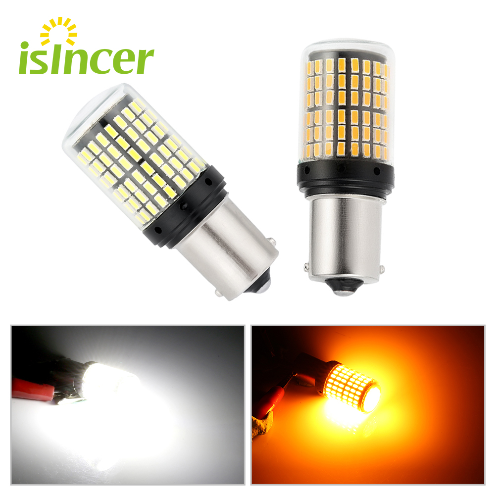 1PC <font><b>Led</b></font> Bulbs 3014 144smd CanBus 1156 BA15S BAU15S <font><b>P21W</b></font> <font><b>LED</b></font> Turn Signal Lights Bulb <font><b>Error</b></font> FREE <font><b>No</b></font> Hyper Flash Fog Light <font><b>p21w</b></font> image