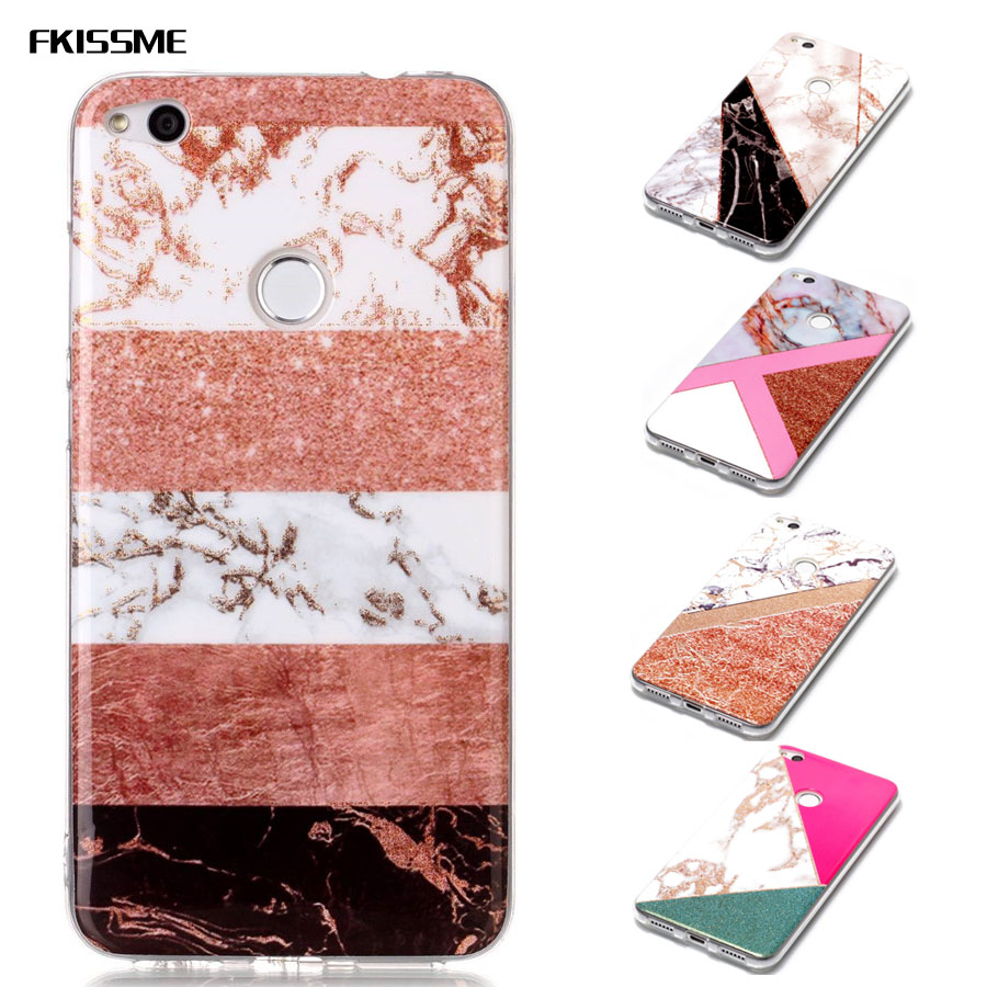 Glitter Marble Case for Huawei P8 Lite 2017 Geometry Stone Pattern Glossy Soft TPU Back Cover for Huawei P9 Lite 2017 Case Coque