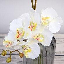 3d impressão artificial orquídea flores falso mariposa flor borboleta orquídea para casa decoração de casamento diy manualidades flores