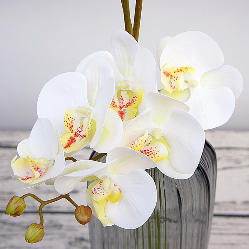 3D Printing Artificial Orchid Flowers fake Moth flor Butterfly Orchid for Home Wedding DIY Decoration manualidades flores