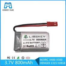 3.7 V 800 mah bateria Lipo dla MJXRC X400 X500 HENGDI 1315 HJ818 akumulator Lipo 3.7 V 800 mah 902540 25C