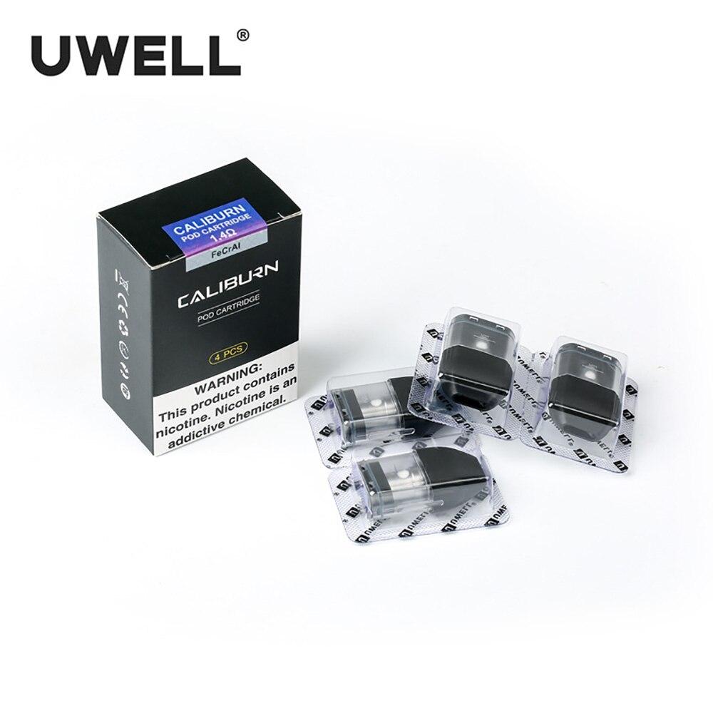 In Stock!!! UWELL 4Pcs/Pack Caliburn Pod Cartridge 2ml Vape Atomizer for Caliburn Kit Electronic Cigarette Vape Pod