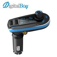 Digitalboy USB Dual Port רכב נגן MP3 אלחוטי משדר FM לרכב רדיו FM מודולטור SD מטען לרכב + שלט רחוק עבור טלפון
