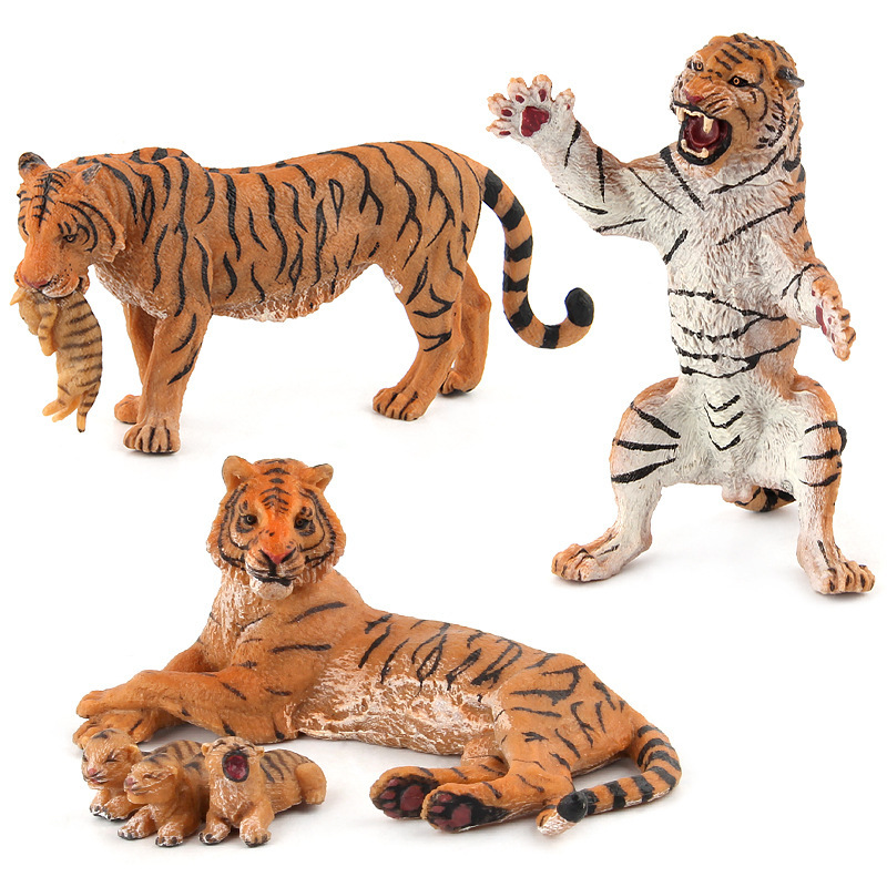 Figures Toys Decorate-Collection-Toys Pups Tiger-Model Animal-Beast Family of PVC