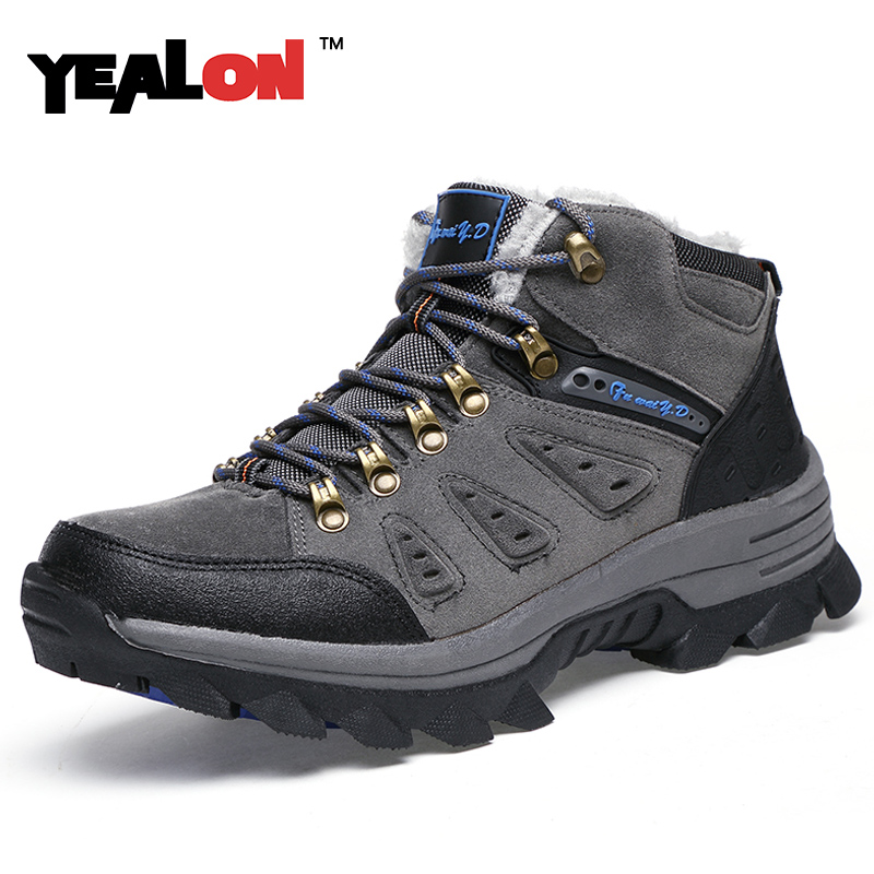 ФОТО Fashion Men Shoes Comfortable Walking Casual Shoes Men 2016 Breathable Winter Brand Anti-skid Outdoor Mountain Climbing Shoes