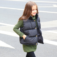 цены New boy fitted vest child jacket girl middle boy child vest girl down cotton swept autumn and winter free delivery