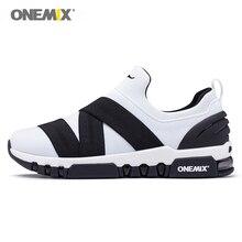 Onemix спортивная обувь для женщин кроссовки для бега легкий фитнес-тренажер для женщин Открытый Треккинг вязаный вамп дышащий золотой белый