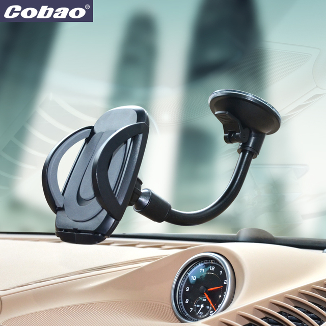 Cobao Universal car phone holder stand windshield mount for Iphone 5 5S 6 6S Samsung Galaxy s4 s5 s6 xiaomi lenovo bracket