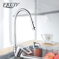 Frud Solid Kitchen Mixer Cold And Hot Flexible Kitchen Tap Single Lever Hole Water Tap Kitchen