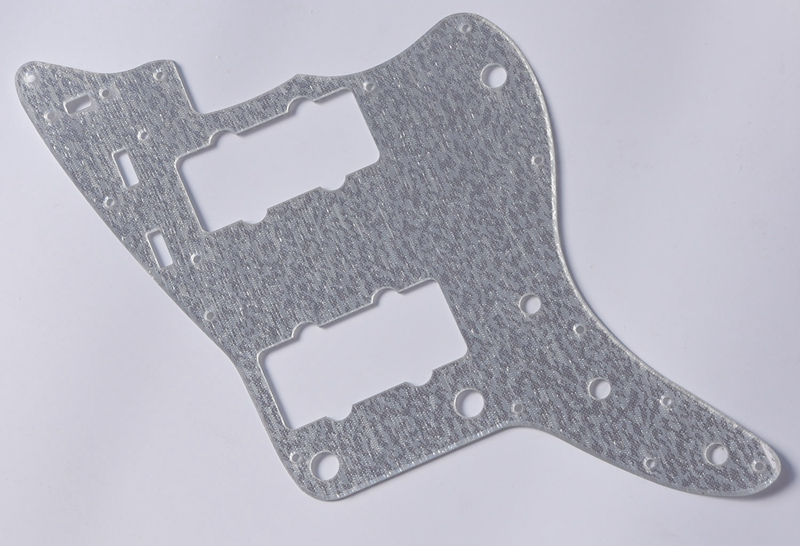 KAISH Silver Sparkle Jazzmaster Guitar Pickguard Scratch Plate for USA Fender kaish sg standard full face guitar pickguard scratch plate light cream with screws
