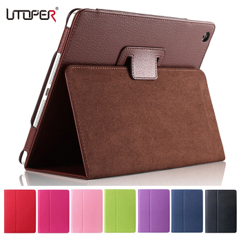 For Apple ipad 2 3 4 Case Auto Sleep /Wake Up Flip Litchi PU Leather Cover For New ipad 3 ipad 4 Smart Stand Holder Folio Case