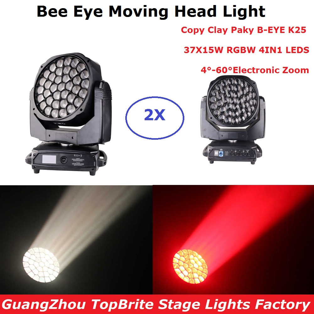 Zoom Function 37X20W RGBW Bee Eye Moving Head Light Professional Stage Dj Lighting Effect Strobe Lights DMX 512  Party LightsZoom Function 37X20W RGBW Bee Eye Moving Head Light Professional Stage Dj Lighting Effect Strobe Lights DMX 512  Party Lights