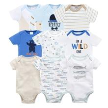 Kavkas Baby Bodysuits Cotton Infant Jumpsuit Short Sleeve Newborn Baby Clothing 5pcs/lot Summer Baby Girls Boys Clothes Roupa de цена 2017