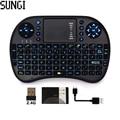 2.4G wireless mini touchpad teclado i8 aire fly ratón teclado retroiluminado