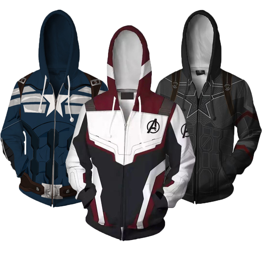 Boys Coat The Avengers 4 Captain America Boys Sweatshirt Quantum Warfare Hoodies Coats For Boys Autumn Kids Jacket Clothes(China)