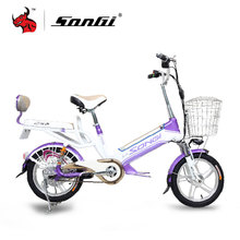 SONGI Men Women Lithium Battery Electric Vehicle 48v20 inch lithium trolley Electric font b bicycle b
