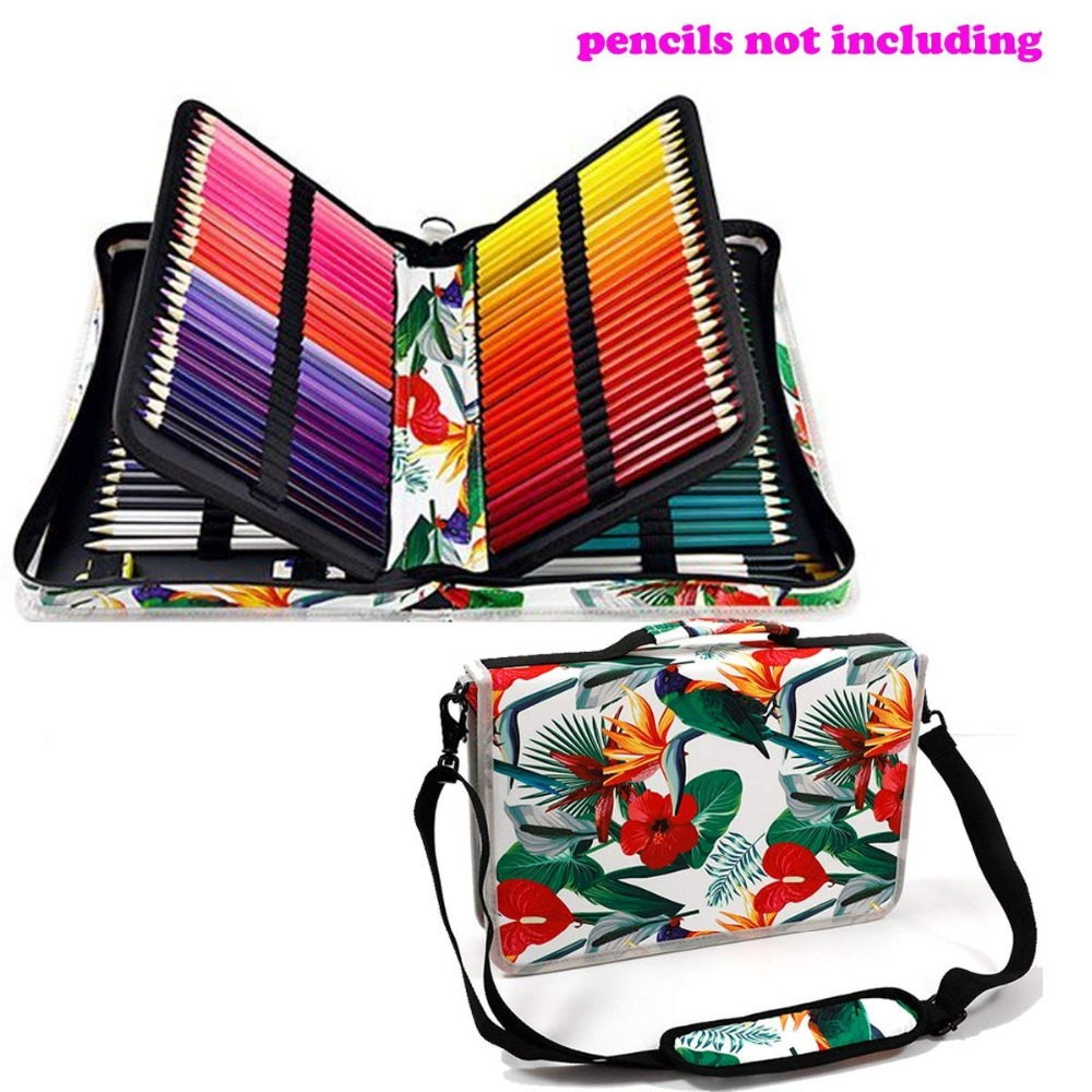 Creative Floral 160 Slot Oxford Cloth School Pencils Case Large Capacity Pencil Bag For Colored Pencil Gel Pen Case Art Supplies 120 holes folding school pencils case large capacity portable pencil bag for colored pencil pen case art supplies