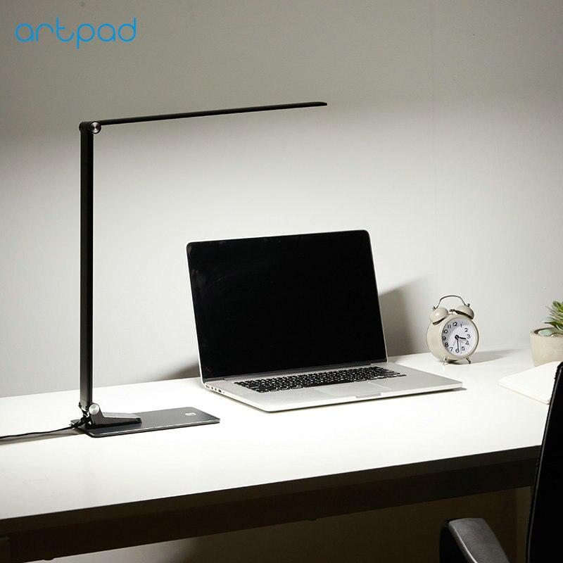 Artpad супер тонкий 12 Вт 6 яркость 5 цветов температуры сенсорный диммер USB зарядка светодио дный LED Складная работа настольная лампа для чтения