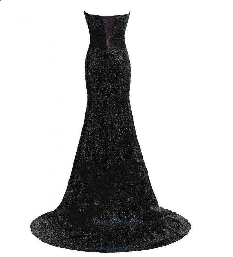 Chérie paillettes or sirène robes de soirée longueur de plancher grande taille argent brillant femmes robes de bal festkjole - 4