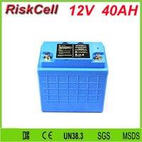 Бесплатная таможенные налоги и доставка Солнечный Батарея LiFePo4 Батарея литиево ионный аккумулятор 12 V/40Ah