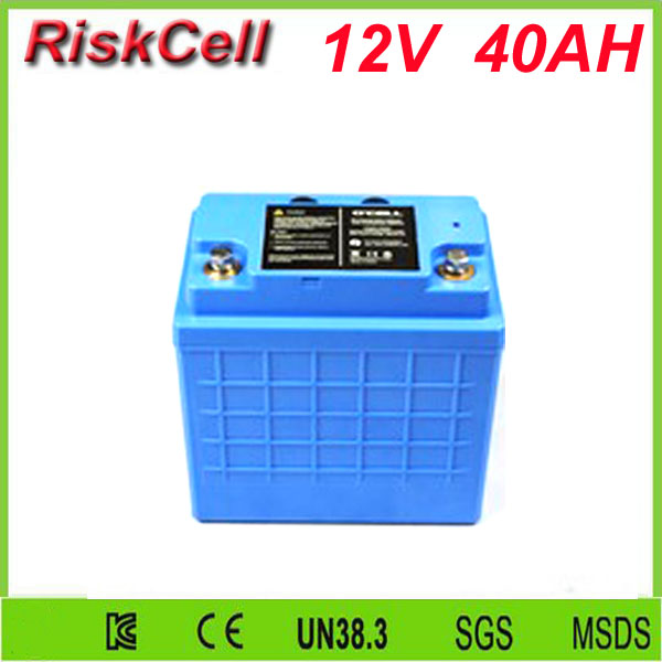 Free customs taxes and shipping Solar battery LiFePo4 Battery lithium ion battery pack 12V/ 40Ah