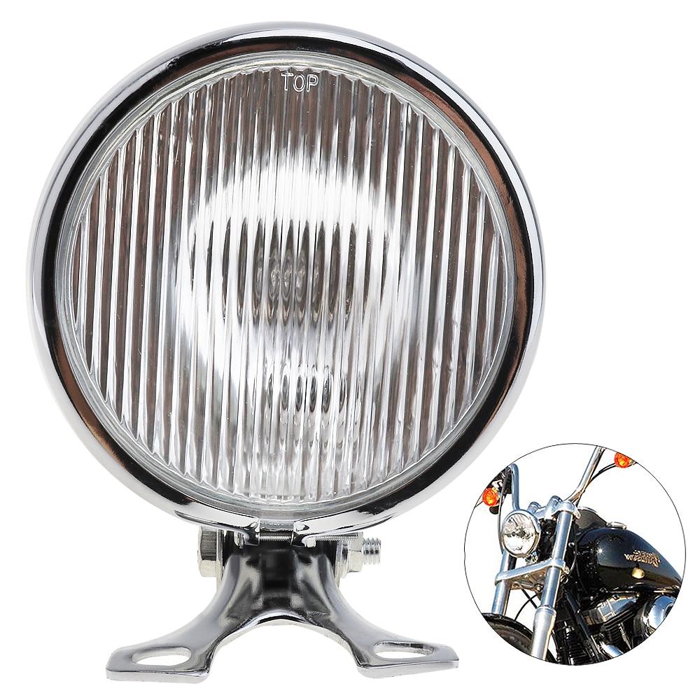 5 Inch 35W 12V Universal Motorcycle Headlight Retro Metal Motorcycle Headlight Round with Holder for Halley Suzuki