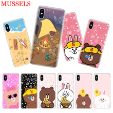 Couples Brown Cony Phone Case For iPhone 11 Pro 7 8 6 6S Plus X 10 Ten XS MAX XR 5S SE Customized Art TPU Cover Coque Capa