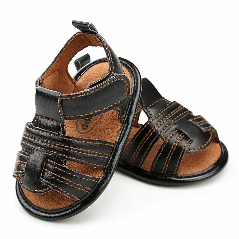 Summer Kids Boys Baby Beach Breathable Shoes Toddler Soft Sole Bottom Shoes Walking Crib Shoes
