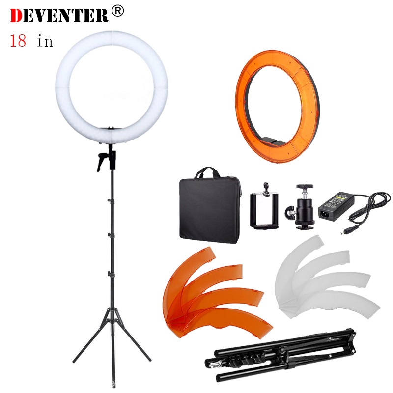 Ring Light 49cm 18in 240 LED with Light Stand 85W 5500K Photographic Lighting Color Filter Makeup Studio Youtube Video Shooting