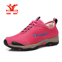 New Women hiking shoes outdoor climbing Winter warm breathable Waterproof Lining fluff  Water repellent Oxford trekking Sneakers
