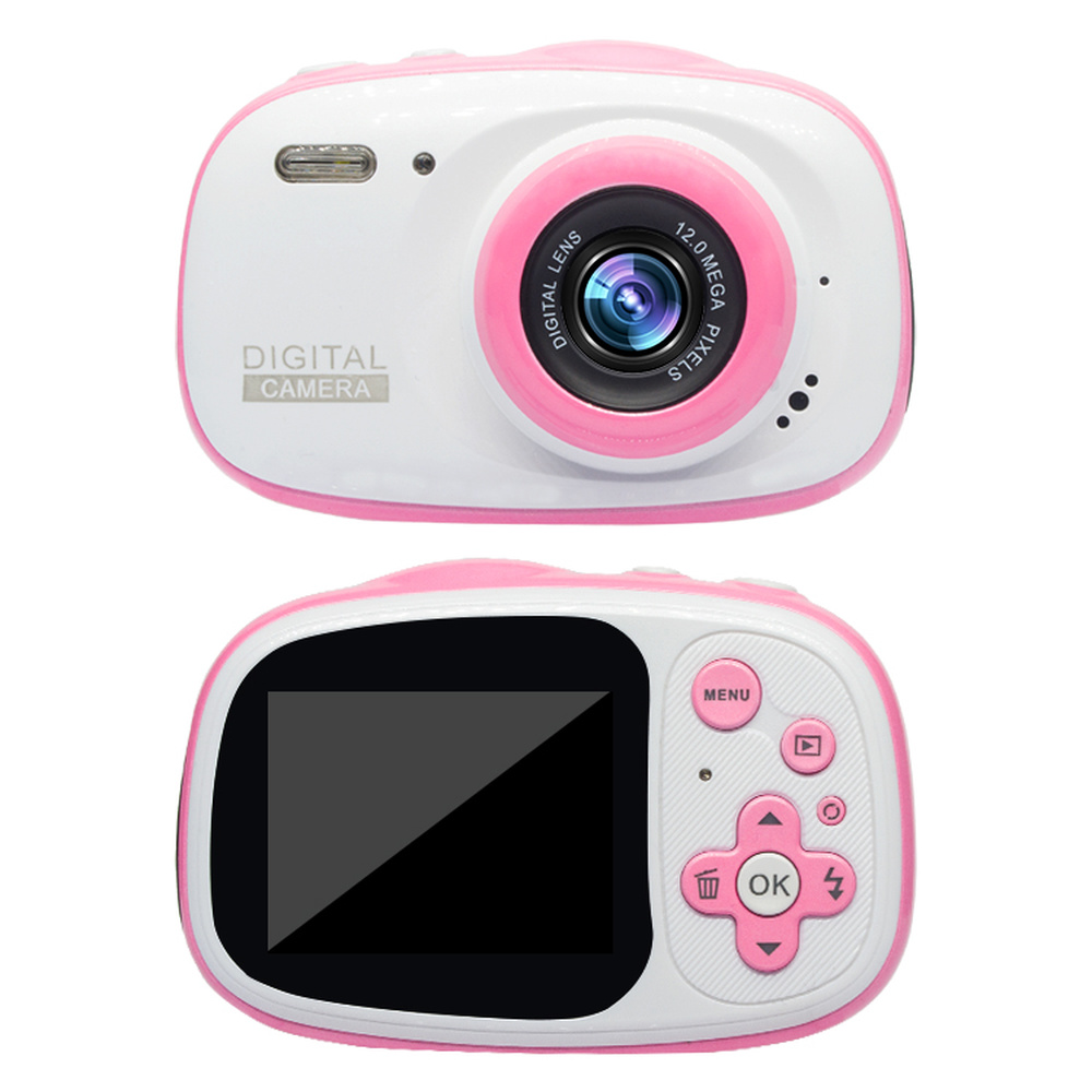 HD Mini 2 Inch Cartoon Waterproof Children's Digital Camera MP3 MP4 Toy Kids Christmas Birthday Gift 720P Photo Video Photograph