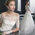 Abule Свадебные Платья 2016 длиной до пола принцесса Свадебное платье Романтические свадебные платья На Заказ Модные vestido де noiva