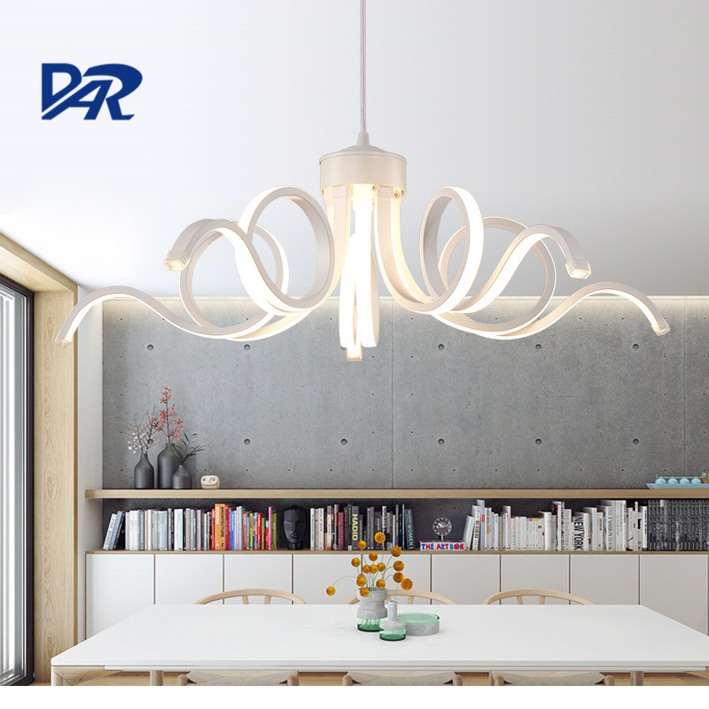 75W Remote Control Modern Led Pendant Lights For Dining Room Restaurant Suspension Luminaire Home Lighting Acrylic Hanging lamp modern led pendant lights for dining living room hanging circel rings acrylic suspension luminaire pendant lamp lighting lampen
