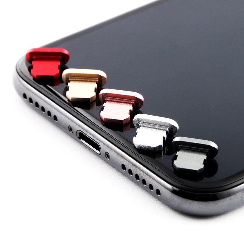 4pcs Metal Dust plug Charging Port Dust Plug for iPhone 8 7 6 6S Plus Mini Dust Plug For iPhone 5 5s SE Phone Accessories