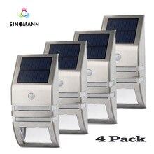 Set di 4 LED di Energia solare Della Lampada PIR Motion Sensore di Luce Esterna Della Parete Impermeabile Risparmio Energetico Giardino Yard Lampada di Sicurezza