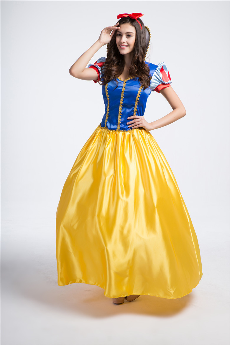 Snow White Fairytale Princess Dress Cosplay Costume Adult Women Halloween Party Dress With Headwear on Aliexpress.com | Alibaba Group  sc 1 st  AliExpress.com & Snow White Fairytale Princess Dress Cosplay Costume Adult Women ...
