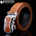 [TG] Hot Sale Genuine Leather Brown strap Automatic Car Shape Buckle Men's Belt Cowskin Belts for Men Waistband Ceinture