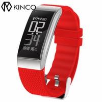 KINCO IP68 블루투스 ECG 심장 박동 혈압 모니터 팔찌 보수계 칼로리 스마트 건강 팔찌 IOS/안드로이