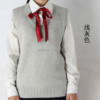 winter and Autumn V Neck Hedging sleeveless vest sweater very soft and comfortable and cute