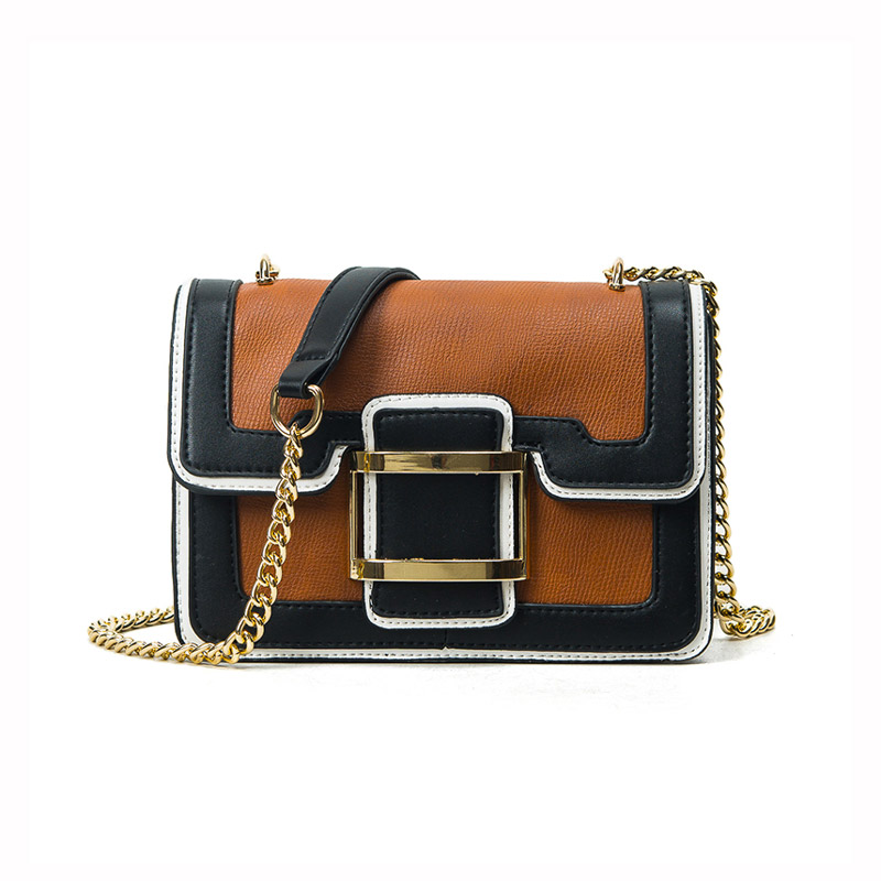 Hit color retro bag 2017 woman new shoulder bag Messenger bag mini chain handbag high quality leather lady small square bag