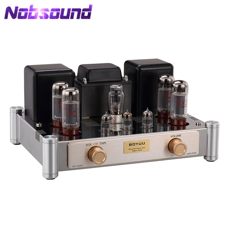 Boyuu MT-34 Hi-end Stereo EL34 Vacuum Tube Amplifier HiFi Push-pull Integrated Class A Power Amp 2*35W music hall latest hi end kt88 el34 vacuum tube integrated amplifier stereo hifi 2 0 headphone power amp