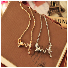 2019 latest womens fashion pop necklace love letter to send girlfriend lover wife best gift choice
