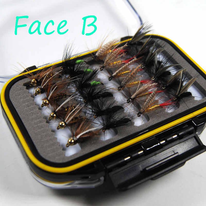 Bimoo 24/48 шт крючки для рыбалки приманки сухой/мокрые Мушки Нимфа искусственные песка приманка для карпа Весна Рыболовные снасти/коробка