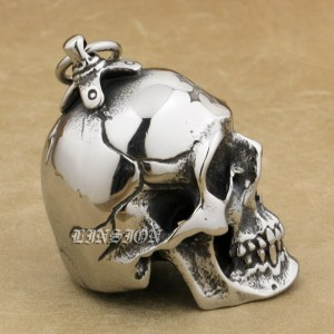 Image 5 - LINSION Huge Heavy 316L Stainless Steel Cross Skull Pendant Mens Biker Rocker Punk Style AJ101 Laser Engraved