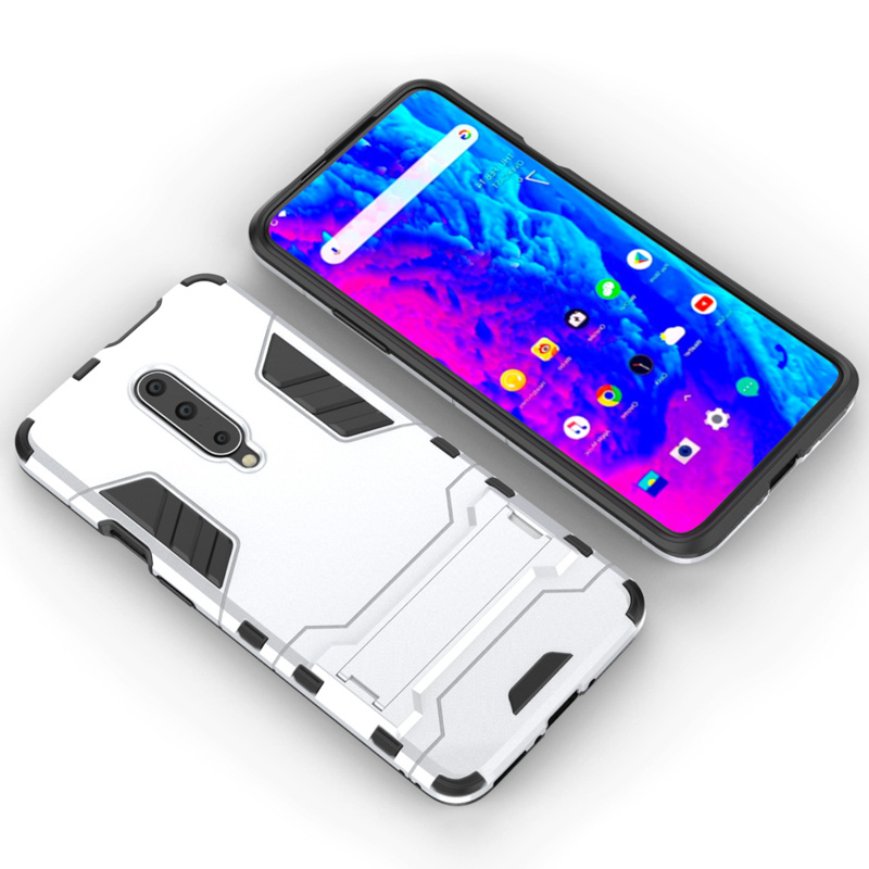 For Armor Case Oneplus 7 Pro Case One Plus 7 Pro Shockproof Robot Silicone Rubber Hard Back Phone Cover For OnePlus 7 Pro Bumper in Fitted Cases from Cellphones Telecommunications