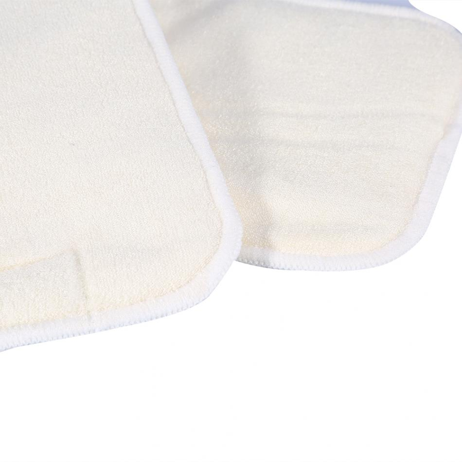 Washable 5Layer Diaper Insert Mat Bamboo Fiber Reusable Cloth Diaper Pad Adult Incontinence Nappy Liner Insert
