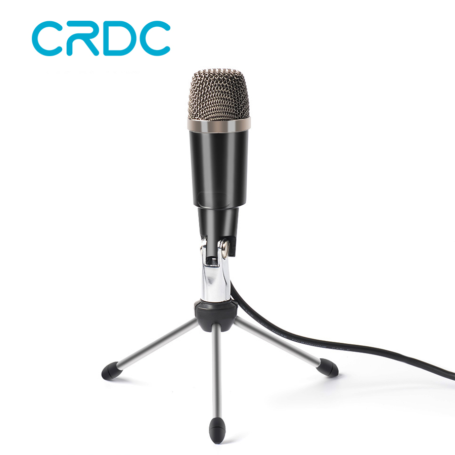 crdc professional microphone usb condenser microphone wired for video recording karaoke radio. Black Bedroom Furniture Sets. Home Design Ideas
